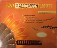 100 Halloween String Lights indoor outdoor Orange Bulbs **Brand New**