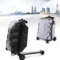 21quot; Suitcase Scooter Travel Carry Luggage Handbag Wheel Case Rear Skateboard USA