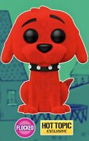FUNKO POP CLIFFORD THE BIG RED DOG FLOCKED #28 NEW EXCLUSIVE 🔥 $17.29