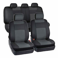 9PCS PU Leather Car Seat Cover Breathable Protector Cushion Universal Full Set $39.89