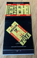 THE TOTE AMERICAN TOTALISATOR COMPANY MATCH COVER Universal Controls Inc. $14.95