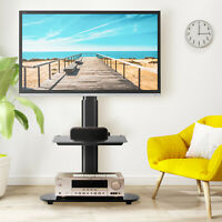 Swivel Universal TV Floor Stand w 2 Shelves for 30 55 inch TV New Curved Screens $60.99