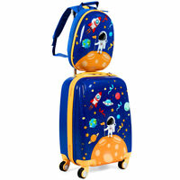 18quot; Carry On Suitcase Wheels amp; 12quot;Travel Backpack Spaceman 2PC Kids Luggage Set
