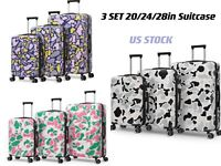 20 24 28#x27;#x27;ABS Luggage Hardside Spinner Lightweight Durable Suitcase 3 Colors US