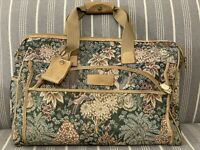 ATLANTIC Vintage Luggage 18quot; Tapestry Carry On Weekend Floral Carpet Bag Travel