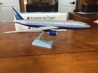 United Airlines 777 200 Molded Plastic Airplane Model by Flight Miniatures Inc.