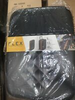 Rollink Flex Collapsible Carry On Luggage Black Gray NEW