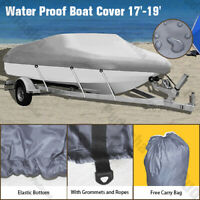 17 19 ft Trailerable Boat Cover Waterproof V Hull 95#x27;#x27; Beam Durable Fabric GBT2B