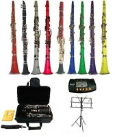 New Bb Clarinet with Case,Metro Tuner,Music Stand~Student Band Orchestra