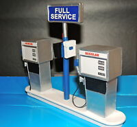 Service Station Gas Pump Ready to Display 1:18 1:20 Scale FREE GASOLINE DECALS