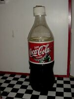 Large 5 ft. 5 In. Vintage Coca Cola Cooler Ice Chest Coke Bottle Store Display
