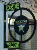 ROCKSTAR ENERGY DRINK WALL MOUNT FLANGE ADVERTISING SIGN