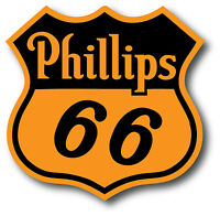 PHILLIPS 66 Shield GASOLINE DECALS GAS AND OIL 4quot;