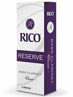 Rico Reserve Classic Bass Clarinet Reeds, Strength 2.5, 5-pack
