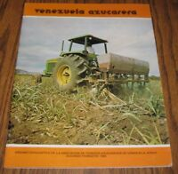1985 Venezuelan Association of Sugar Book 4430? John Deere Tractor Literature Ad