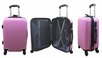 20quot; 24quot; 28quot; Hard Shell Suitcase Set 4 Wheel Luggage Spinner Lightweight PINK