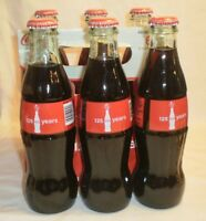 125 Years Collectible Coke Bottles