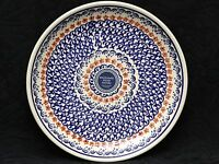 BOLESLAWIEC Polish Pottery PETITE RED FLOWERS Salad Plate