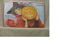 Its HALLOWEEN DECOR Tin Metal Sign CUTE GIRL WITCH PUMPKIN NEW