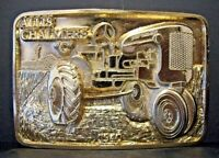 Allis Chalmers Model C 1940 Tractor GOLD Belt Buckle Limited Edition #012 of 250