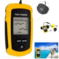 Portable Wired Fish Finder Sonar Sensor Alarm Fishing Kayak Tool LCD Display New