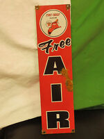 Antique style-porcelain look Texaco Fire chief Air oil dealer gas pump sign