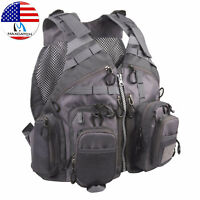 Maxcatch Fly Fishing Mesh Vest Adjustable Mutil-Pocket Outdoor Sport Backpack
