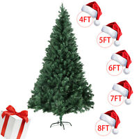 4/5/6/7/8FT Christmas Tree Stand Indoor Outdoor Holiday Season Artificial PVC