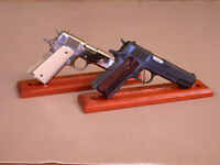 for Colt 1911 Luger Beretta  Gun Pistol Display Stand Genuine Padauk