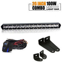 21-Inch 100W Single-Row Slim LED Light Bar For Truck Off-Road 4x4 ATV