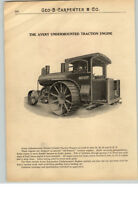 1900's PAPER AD Avery Double Cylinder Steam Tractor Traction Engine Locomotive