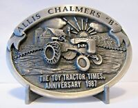 *Allis Chalmers B Tractor Pewter Belt Buckle 1987 Limited Ed Toy Tractor Times