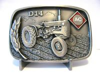 Allis Chalmers D14 Tractor PEWTER Belt Buckle 2001 Limited Ed 44/150 Badger Club