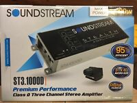 Soundstream ST3.1000D 1000 Watt 3-Channel Motorcycle ATV UTV Car Audio Amplifier