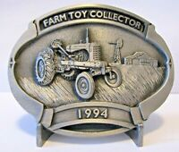 AC Allis Chalmers WD45 Tractor Belt Buckle 1994 Farm Toy Collector 3rd Spec Cast