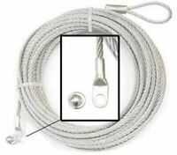 WARN 15236 ATV Winch Replacement Wire Rope for Steel Drums - 3/16 X 50 FT.