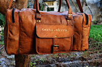 Real Leather Large Travel Hand Luggage Duffel Gym Bag Holdall Carry Suitcase