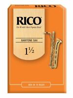 Rico Baritone Saxophone Reeds, Strength 1.5, 10-pack