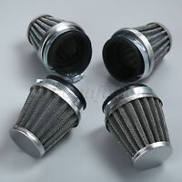 4Pcs 54mm Motorcycle Quad ATV Air Filter Vent Cone Engine Inlet Air Cleaner Pod