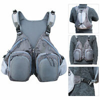 Fly Fishing Backpack Vest Combo Pack Fishing Sling Pack With Hard Shell Storage