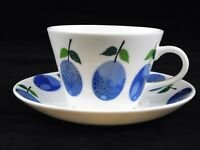 Prunus Stig Lindberg Coffee Cup and Saucer New Production Gustavsberg Sweden
