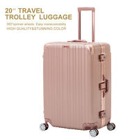 20'' Luggage Travel Set with 4 Wheels Bag Trolley Case Carry On Suitcase