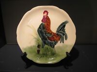Antique Majolica French Rooster Plate 9