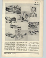 1954 PAPER AD Products Miniature Toys Oscar Mayer Weinermobile Disney Color TV