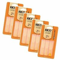 15 X Reeds Rico Alto Clarinet Reeds Strength 2.5 No 2 1/2 * Cheap * 5-Packs