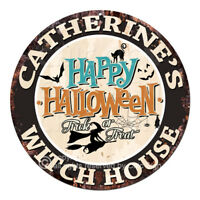 CHWH-0046 CATHERINE'S WITCH HOUSE Tin Sign Halloween Decor Funny Gift