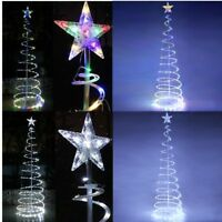 5' 6' Spiral LED Xmas Tree Light In/Outdoor Holiday Party Decor Battery Powered