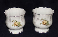Pair Antique Porcelain Vases Planters Jardinieres Pedestal Base Made In Japan
