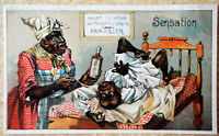 Vintage Black Americana Victorian Advertising Trade Card Perry Davis Pain Killer