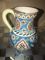 *RARE Longwy 19th Century Pitcher Jug Majolica Faience